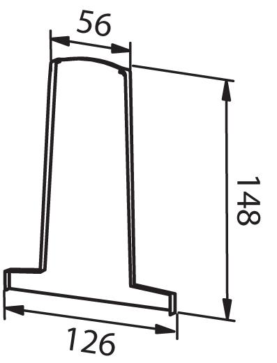 End cap lef/right - Model 4010