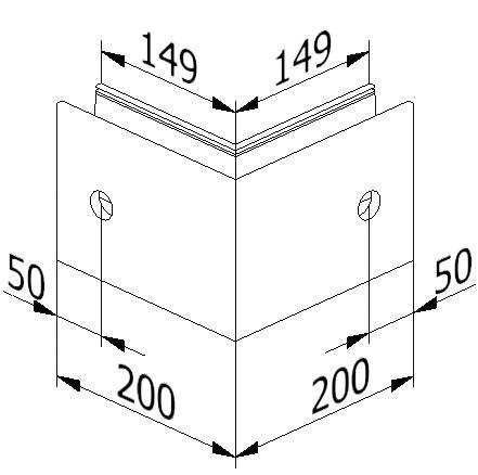 Outside corner - Model 6021