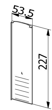 End Cap Stairs - Model 6011 - RIght