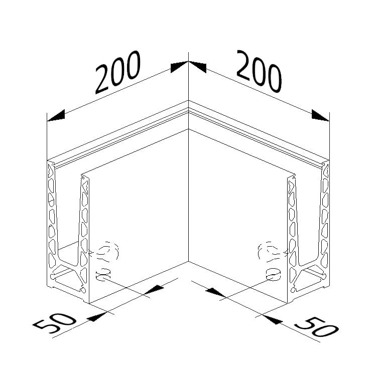 Inside/outside corner - Model 6020