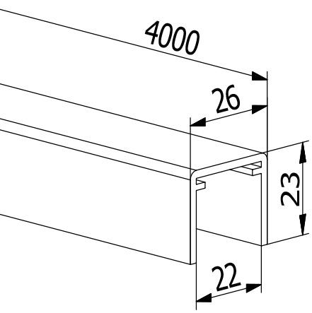 Handrail U-Profiles - Model 2114/26