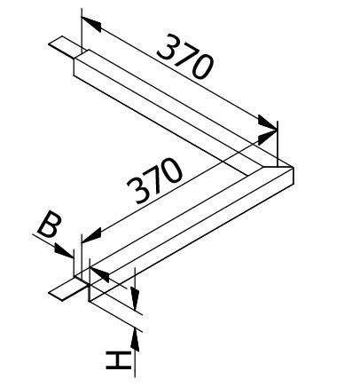 Corner Connector U-Profile - Model 2210