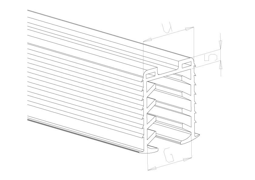 Handrail Rubbers 42.4mm - Model 7042