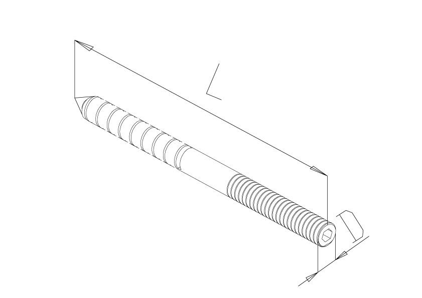 Dual Thread Screws (20No.) - Model 9160