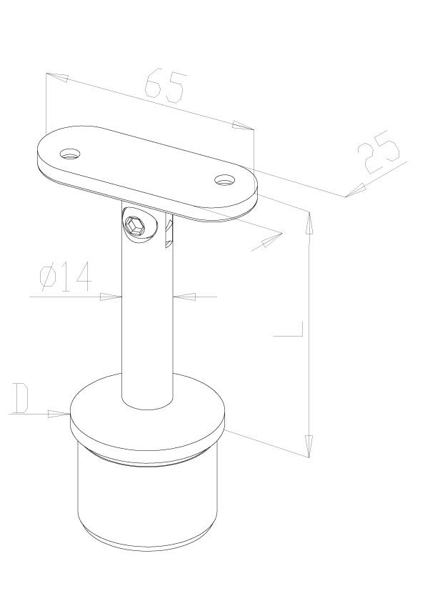 Adjustable stem Connectors - Model 0105 - Flat