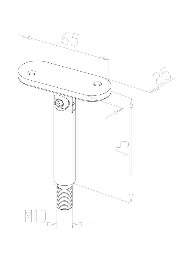 Adjustabl Stems & Saddles - Model 0205 - Flat