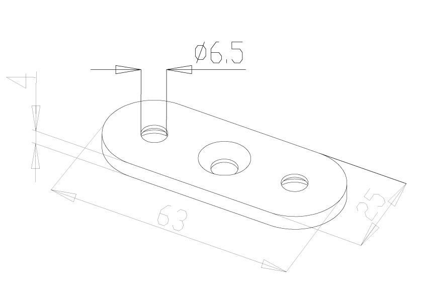 Handrail Saddles - Model 0300 - Flat