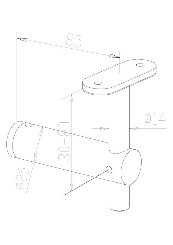 Handrail Brackets - Model 0400 - Flat