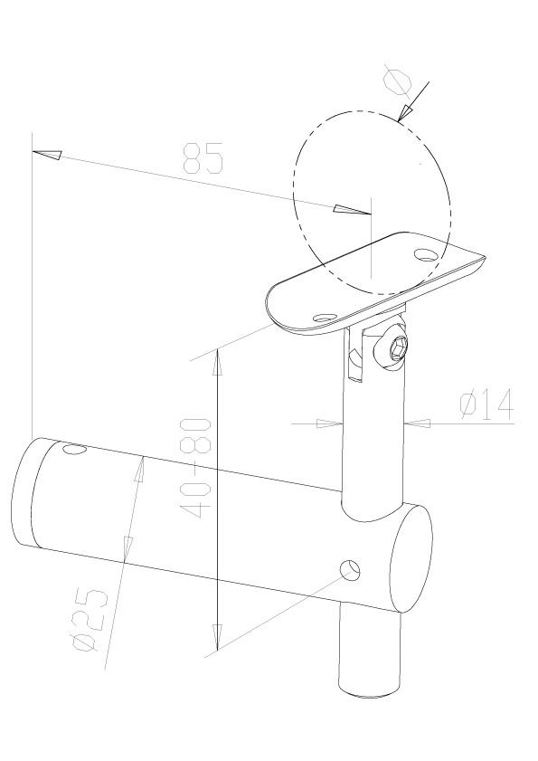 Adjustable Handrail Brackets - Model 0405
