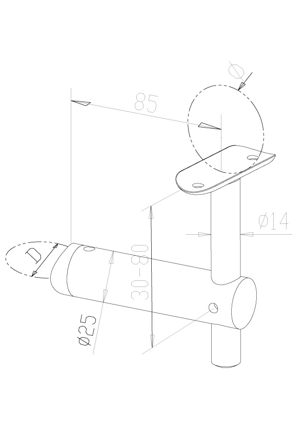Handrail Brackets - Model 0420/0421