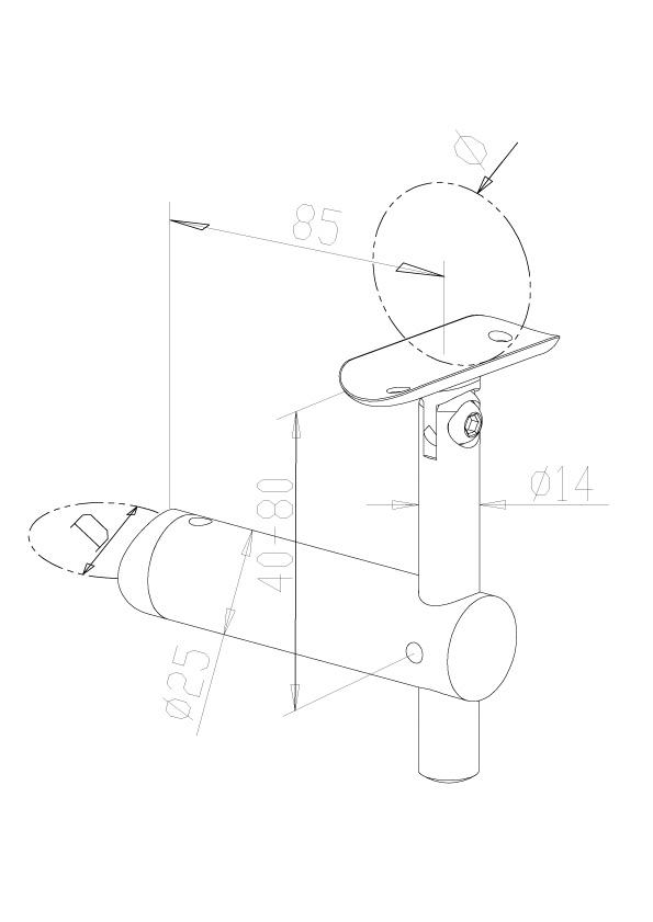 Adjustable Handrail Brackets - Model 0425/0426