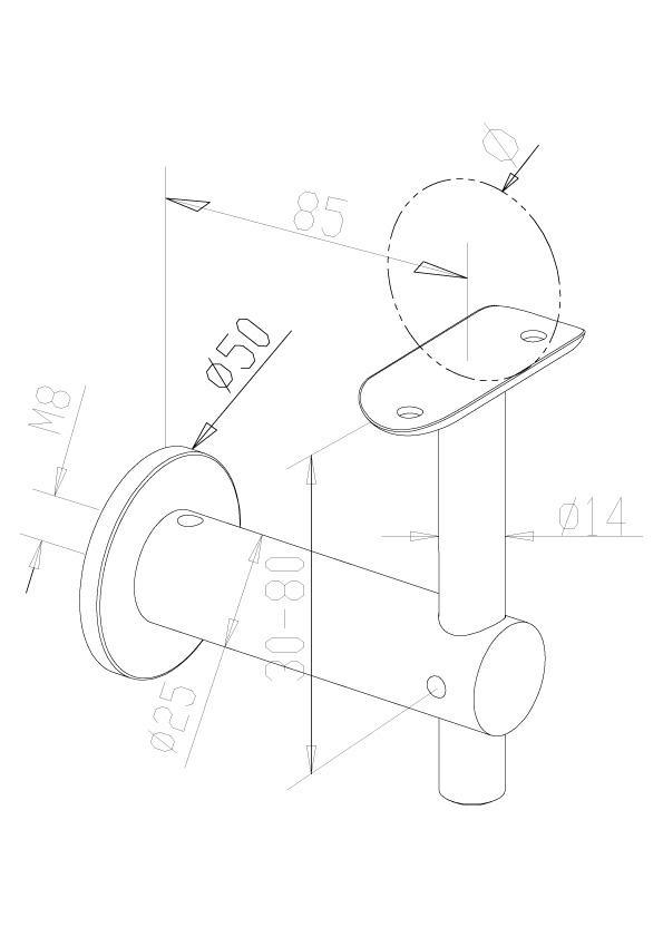 Handrail Brackets - Model 0430