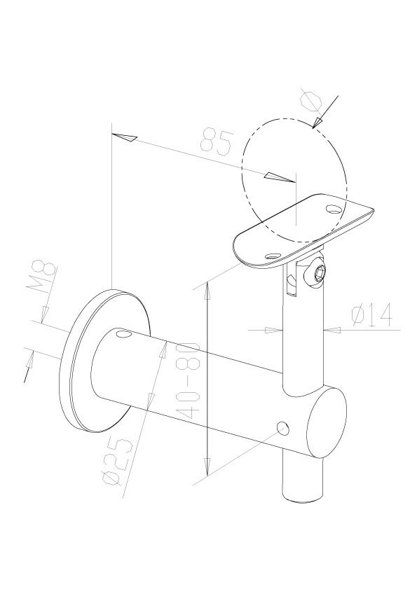 Adjustable Handrail Brackets - Model 0435
