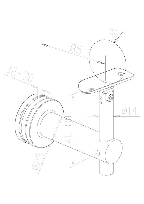 Adjustable Handrail Brackets - Model 0445