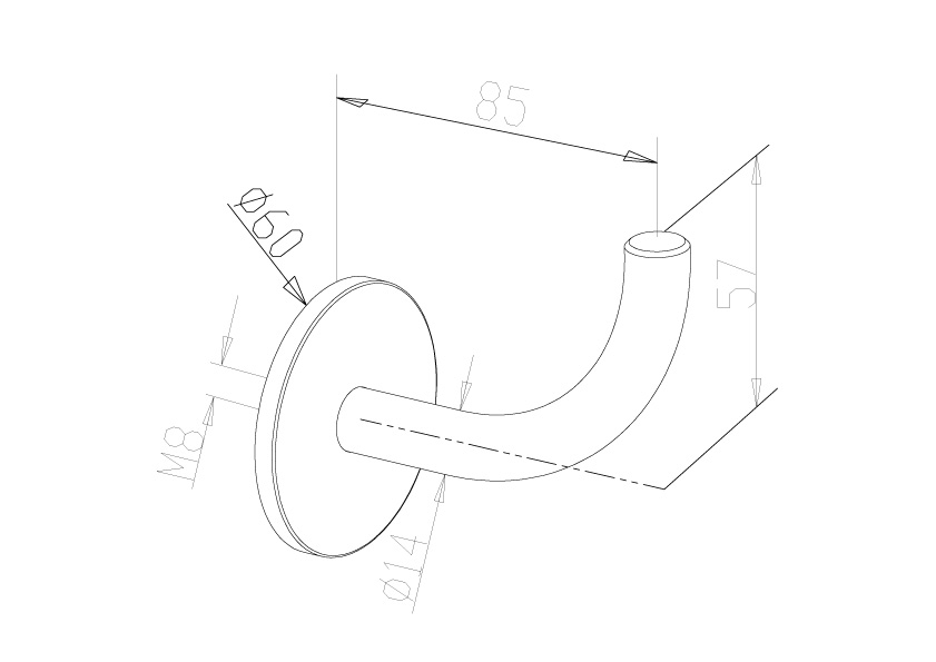 Handrail Brackets - Model 0510