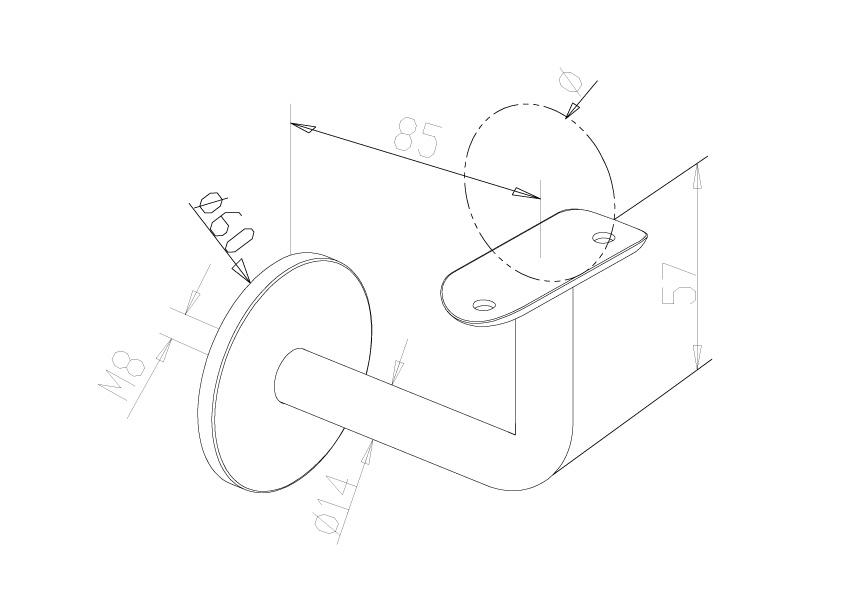 Handrail Brackets - Model 0511