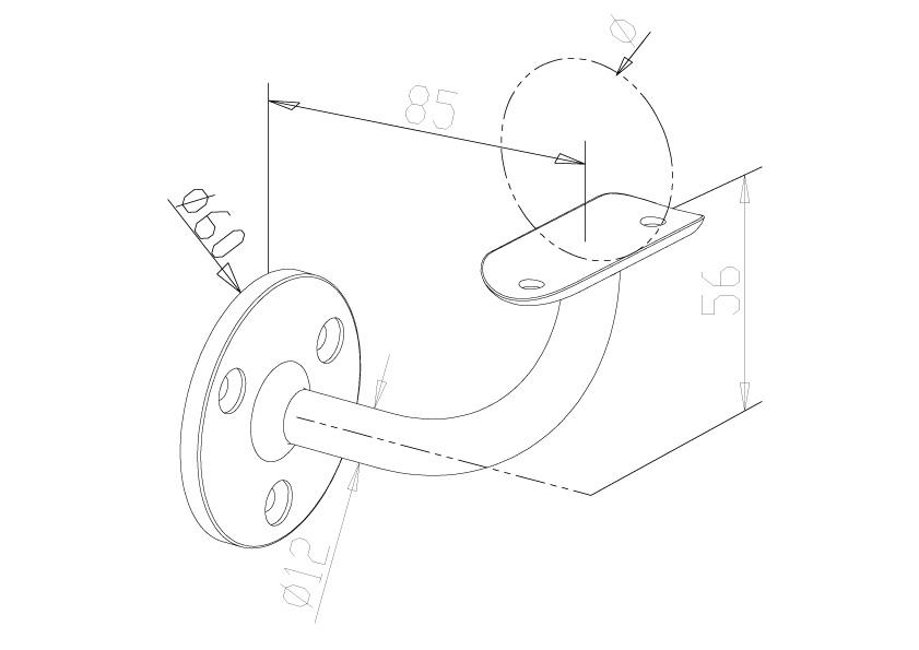 Handrail Brackets - Model 0521