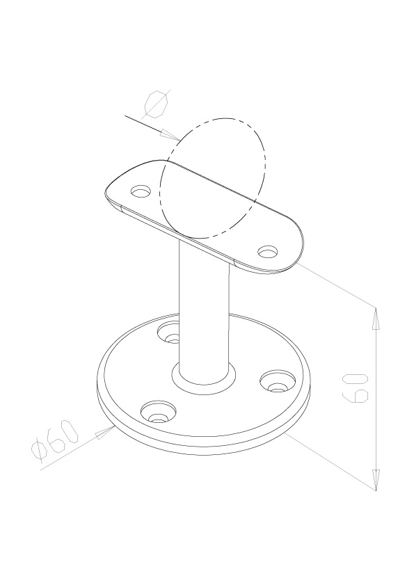 Handrail Supports - Model 0530