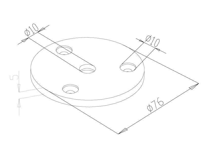 Handrail Rossette - Model 0540