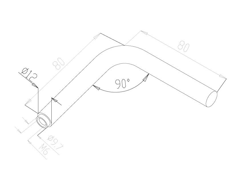 Handrail 90 Deg Stem - Model 0541