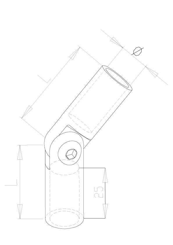 Adjustable elbows - Model 0640 - 12Ø Bar