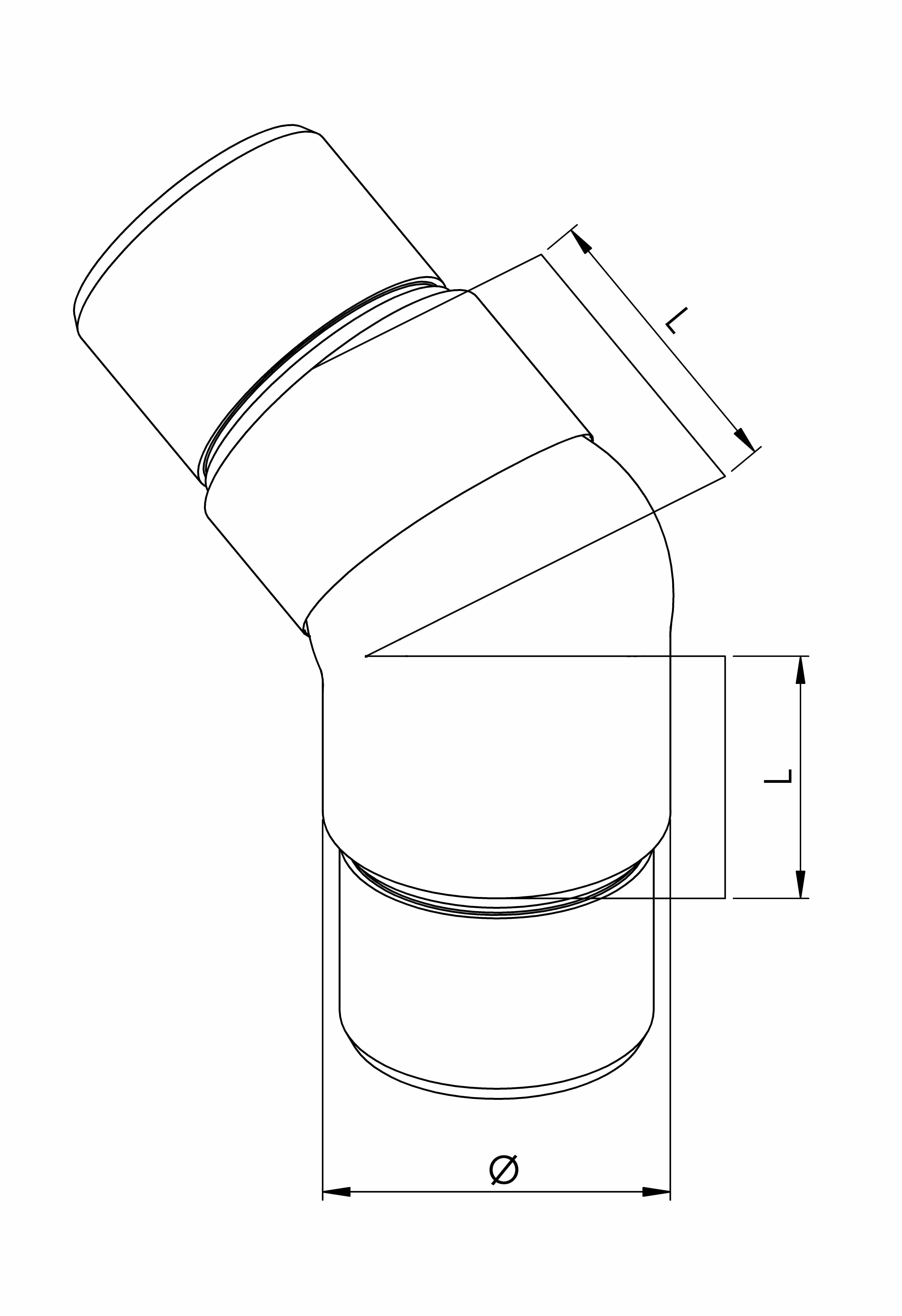Adjustable elbows - Model 0645