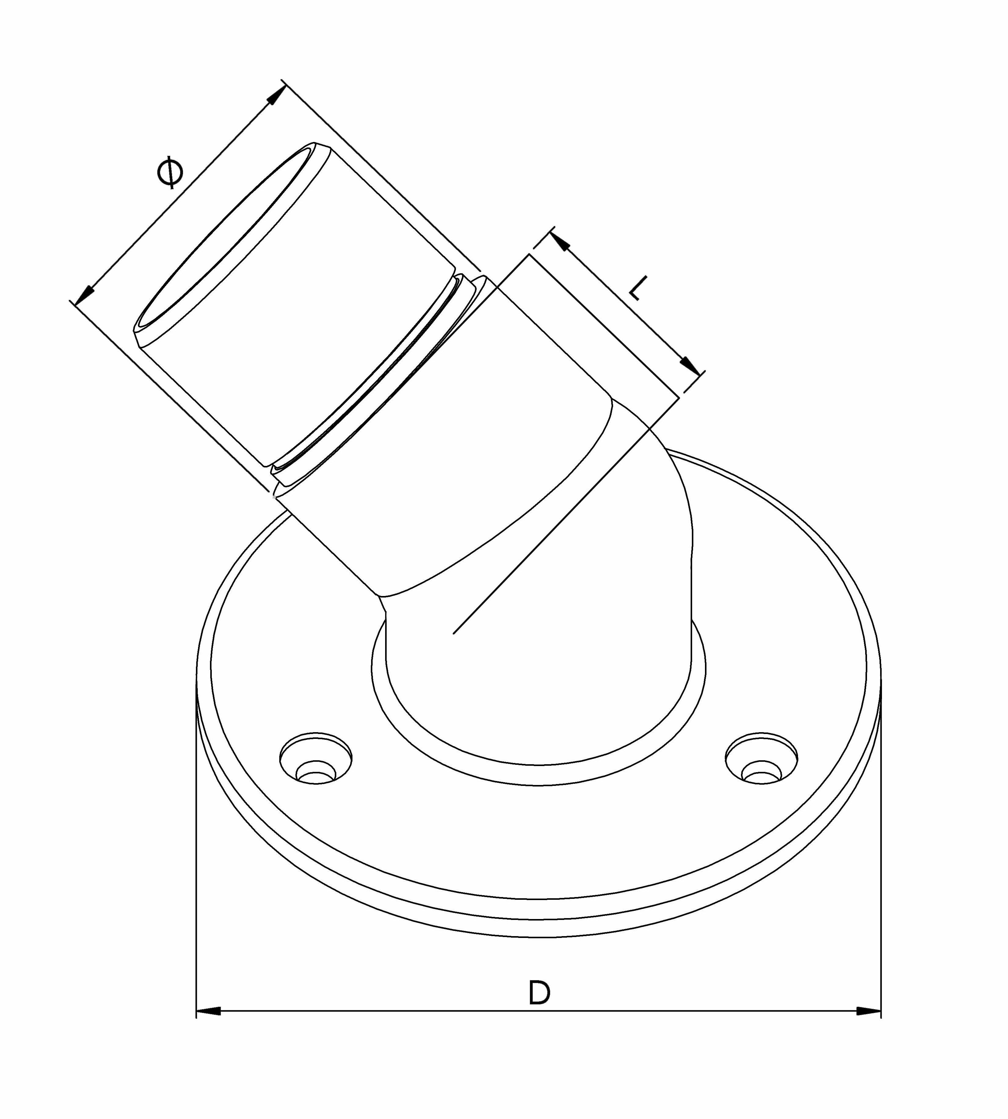 Adjustable Wall Flange - Model 0745