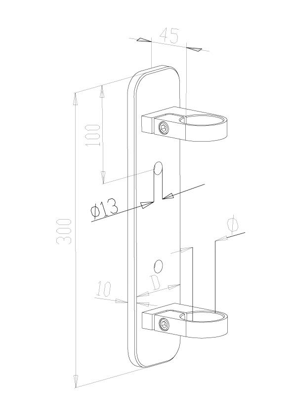 Side Fix Brackets - Model 1000