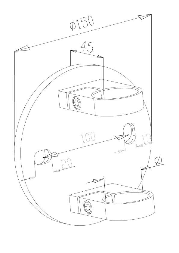 Side Fix Brackets - Model 1010