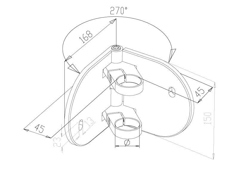 Side Fix Brackets - Model 1030