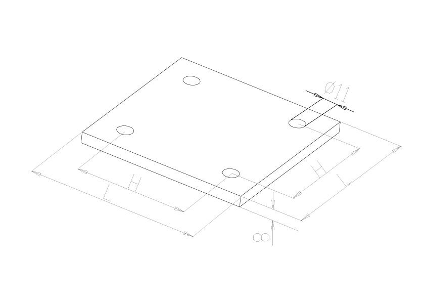 Bases Plates - Model 1250