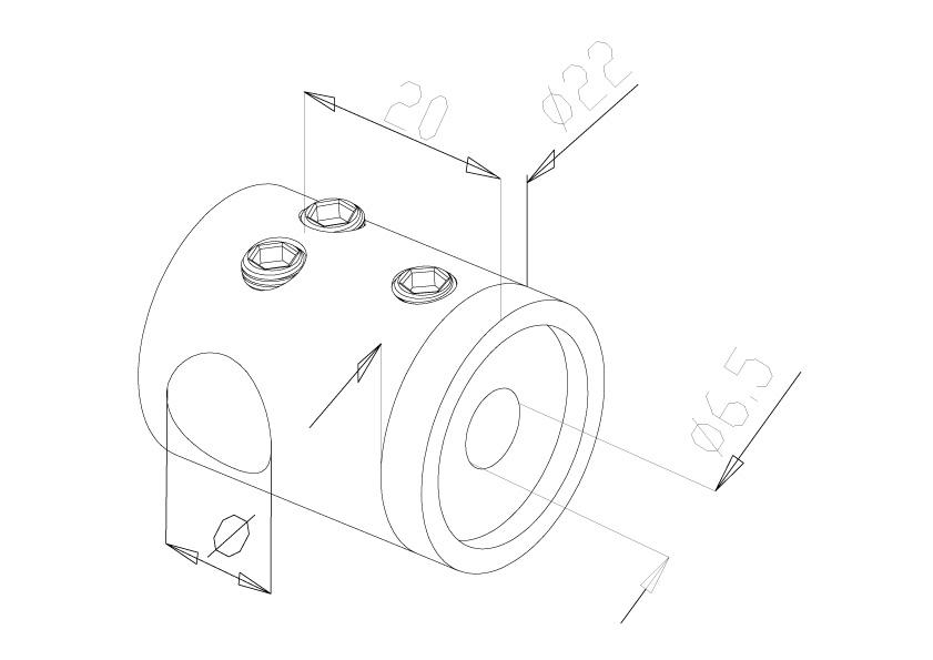 10mm Crossbar Holders - Model 2110 - Connector