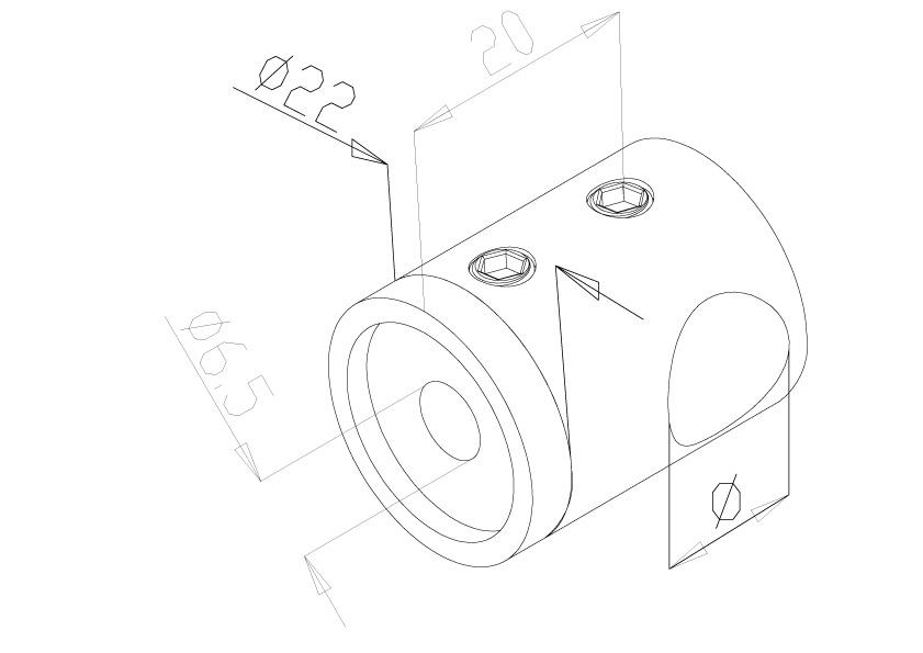 12mm Crossbar Holders - Model 2312 - End