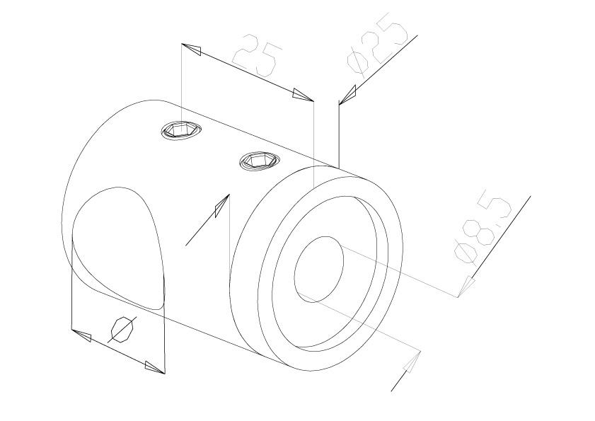 16mm Crossbar Holders - Model 2416