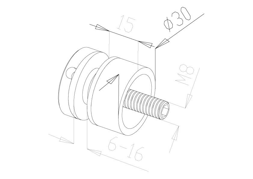 Glass Connectors - Model 4010 - Flat
