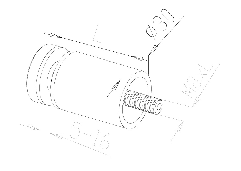 Glass Connectors - Model 4010 - Long