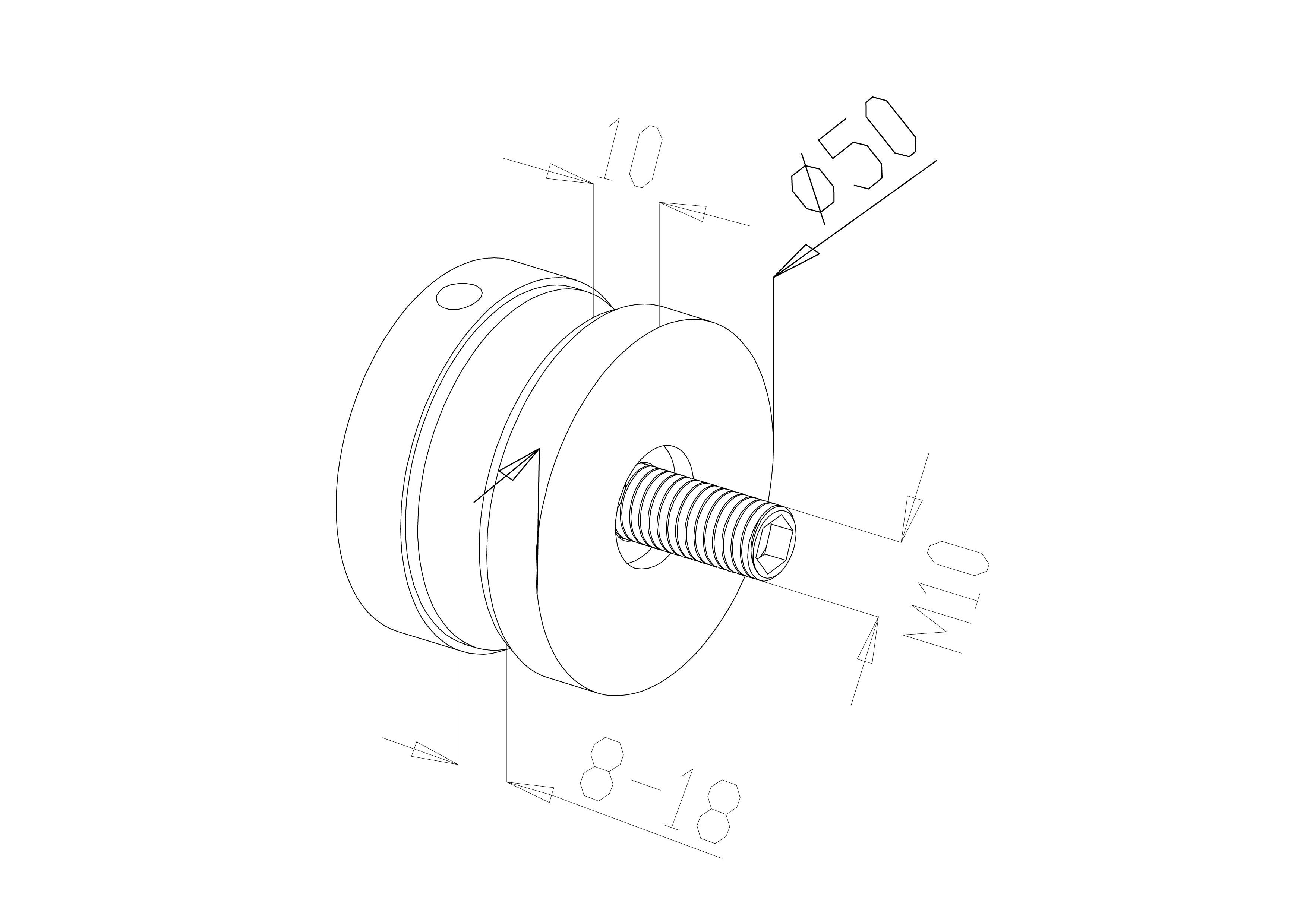Glass Connectors - Model 4030 - Flat