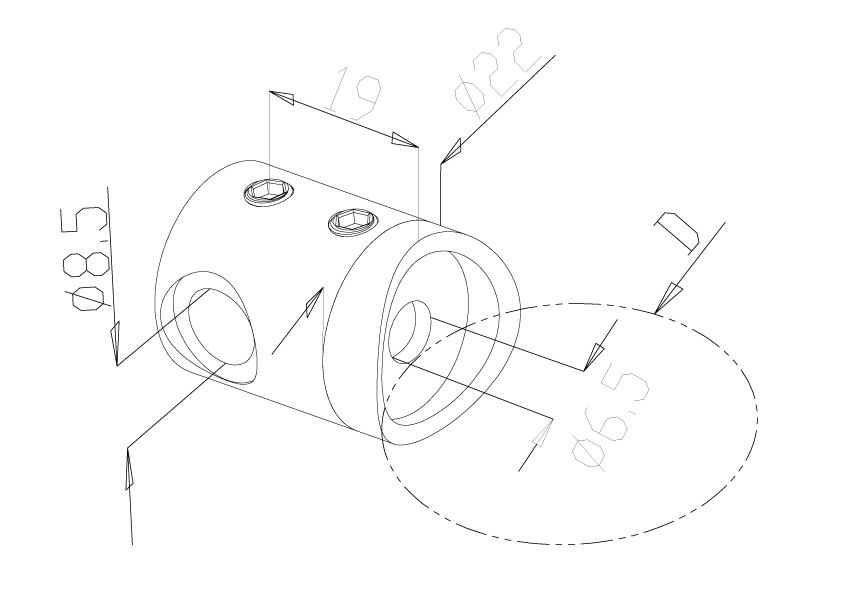 Cable cross bar holder - Model 6120 - right