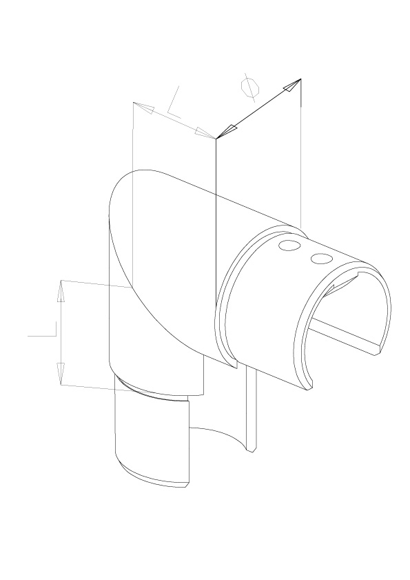 Elbow Vertical - Model 7010