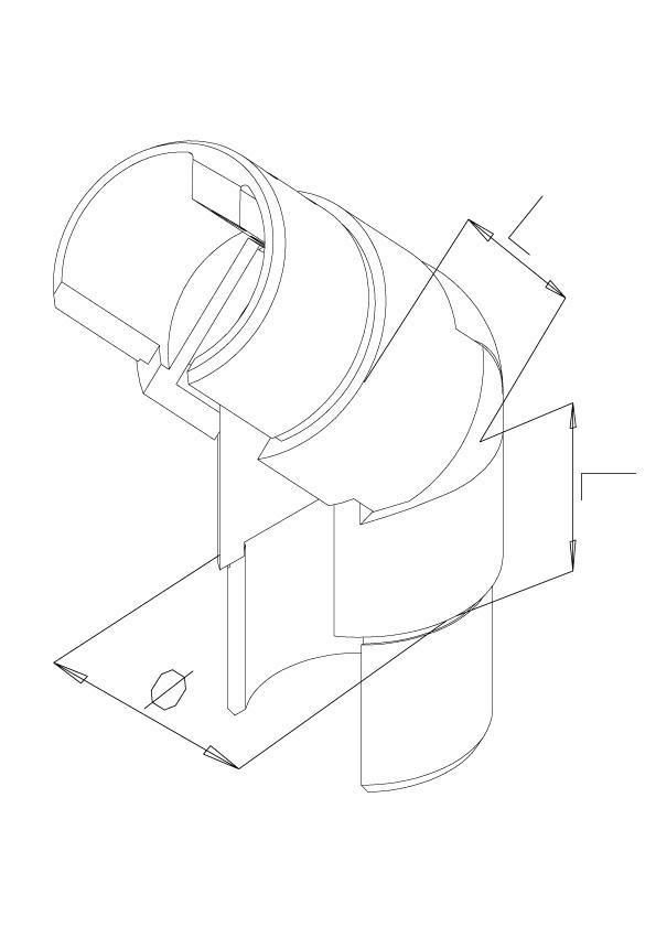 Adjustable Elbow Downwards - Model 7030