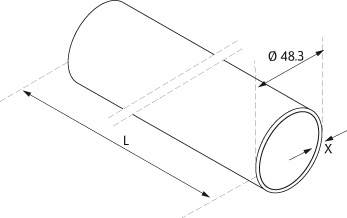 Stainless Steel Tube - Model 1900/1910 - Ø 48.3mm