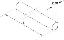 Stainless Steel Bar - Model 1900/1910 - Ø 10mm