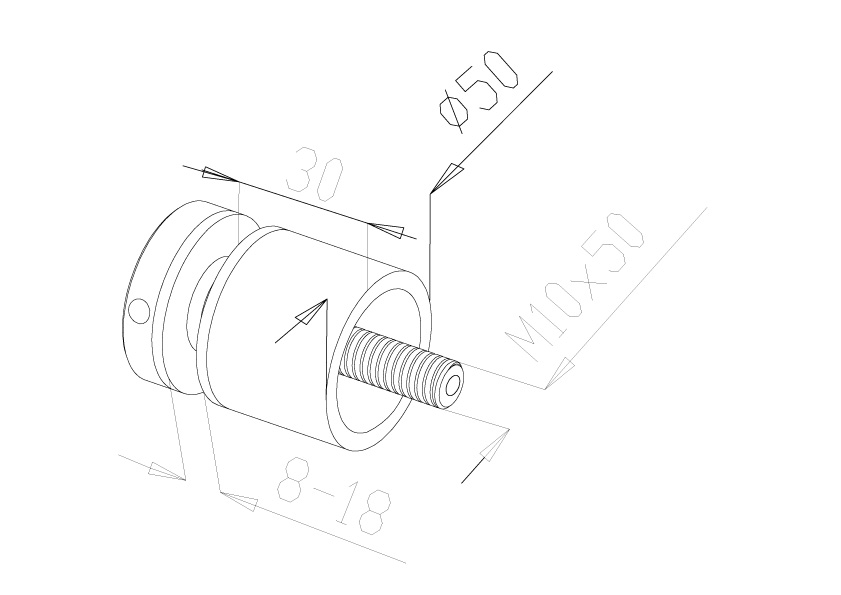 Glass Connectors - Model 4030 - Long
