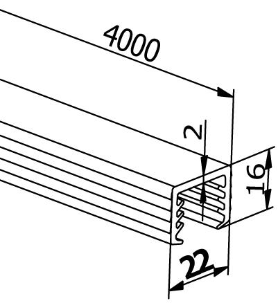 Handrail Rubbers U-Profiles - Model 6526