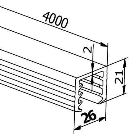 Handrail Rubbers U-Profiles - Model 6530