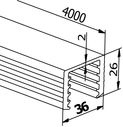 Handrail Rubbers U-Profiles - Model 6540
