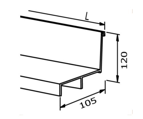 Cover strip - Model 3010