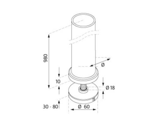 Clamp Fix Baluster Post - Model 1710