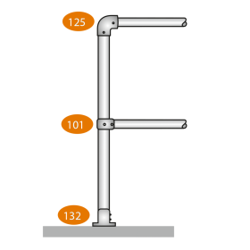 End Post Level - C Clamps