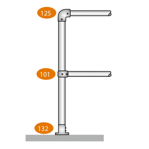 End Post Level - D Clamps